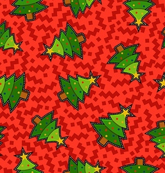 Christmas pine tree patch icon pattern background vector