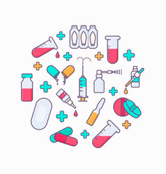 collection of medicine tools vector image