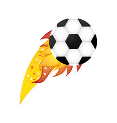 colorful olympic flame with soccer ball vector image vector image