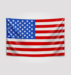 hanging flag of usa united states of america vector image