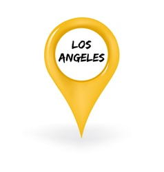 Location Los Angeles vector image