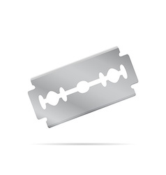 Realistic razor blade front view vector image