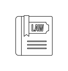 Law and justice book icon outline style vector image vector image