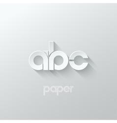 letter A B C logo alphabet icon paper set vector image