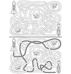 Princess maze vector image vector image