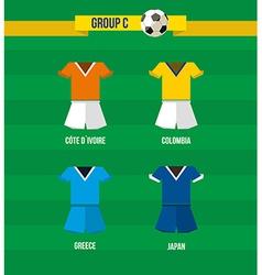 Brazil Soccer Championship 2014 Group C team vector image vector image