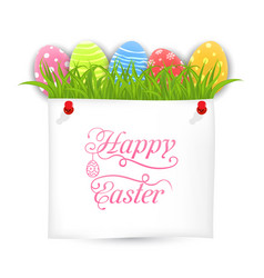 celebration postcard with easter ornamental eggs vector image vector image