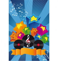 music background vinyl vector image vector image