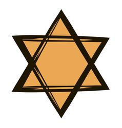 Star of david icon cartoon vector