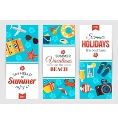 Summertime typographical banners with place for vector image