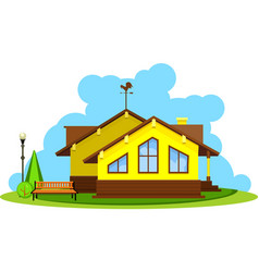 vacation home vector image vector image