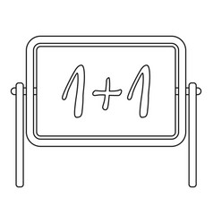 board icon outline style vector image vector image