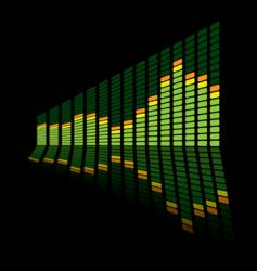 graphic equalizer angle vector image vector image