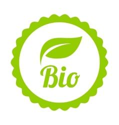 Green Bio icon or symbol vector image