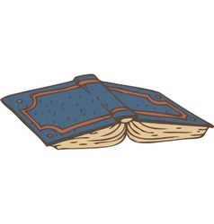 Open Book with a Blue Cover vector image