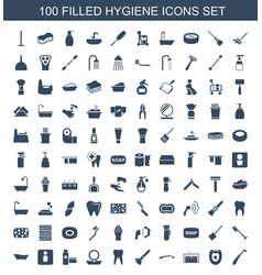 100 hygiene icons vector