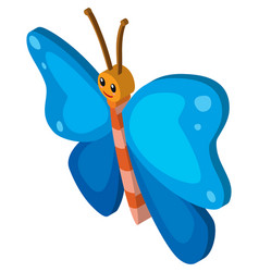 3d design for butterfly with blue wings vector