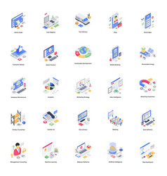 Accounting and finance isometric pa vector