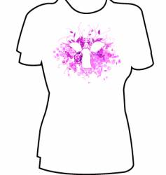 angel tee graphic vector image