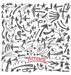 arrows - doodles set vector image