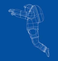 Astronaut concept rendering 3d vector