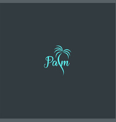 beautiful palm symbol design vector image