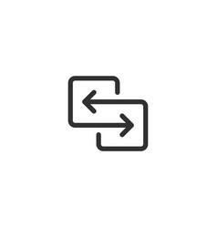 Black direction arrows for transfer sync vector