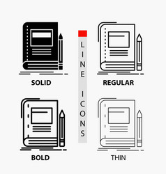 book business education notebook school icon in vector image