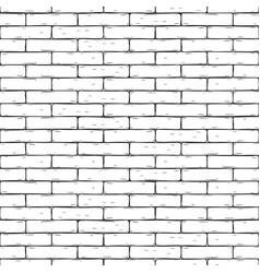 Brick wall hand drawn seamless background vector