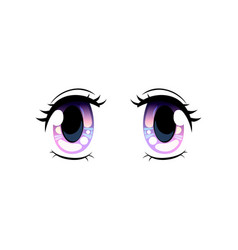 bright eyes beautiful eyes with light reflections vector image