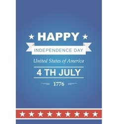 Bright for the Independence Day vector image