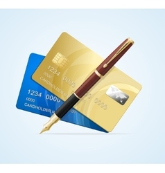 Card and Pen Business Concept vector image