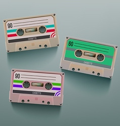 Cassette icon set vector