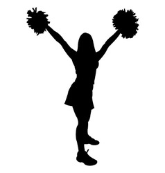 cheerleader vector images over 990 rh vectorstock com cheerleading vector drawings cheerleader victory cheer