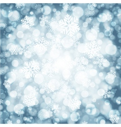 Christmas light background with snowflakes vector image