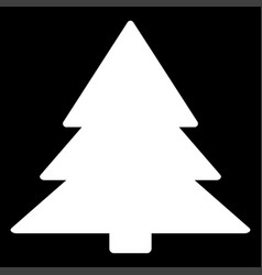 Christmas tree the white color icon vector