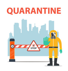 City quarantine due to coronavirus isolation of vector