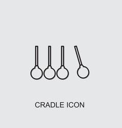 Cradle icon vector