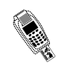 dataphone sticker vector image