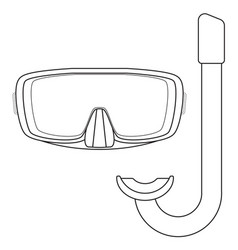 dive mask and tube for diving icon vector image