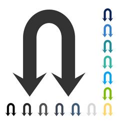 double back arrow icon vector image vector image