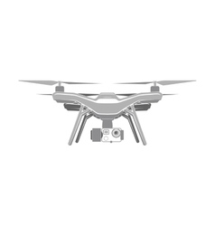 drone quadrocopter aerial icon vector image