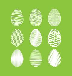 easter egg set white scribble effect on vector image