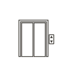 elevator icon in trendy outline style isolated on vector image