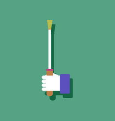 Flat icon design sex stick in hand in sticker vector