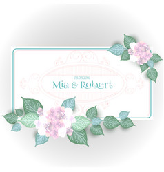Flower wedding invitation card vector