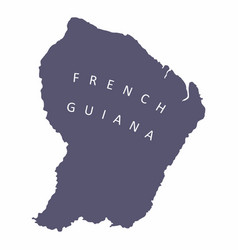 french guiana silhouette map vector image