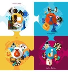 Games Design Set vector image