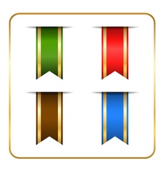 Gold colored bookmark banners vector