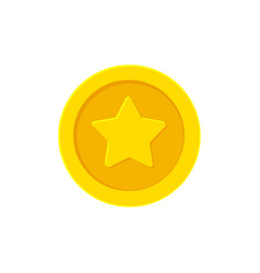 Golden coin with a star vector